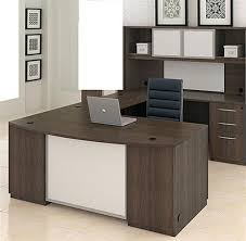 U Shaped Computer Desk U Shaped Computer Desk With Hutch Desk Workstation Espresso U