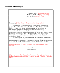 Casual Business Letter Closings Sample Friendly Letter Format 36 Friendly Letter Templates