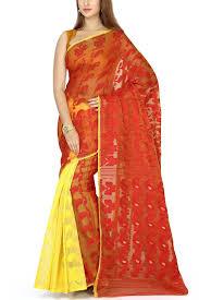 jamdani sharee yellow paisley dhakai cotton jamdani saree muslin myths