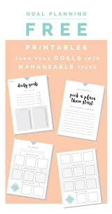 Smart Goals Worksheets Best 25 Goals Printable Ideas On Pinterest Family Planner