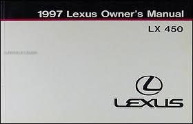 lexus is owners manual 1997 lexus lx 450 owners manual original