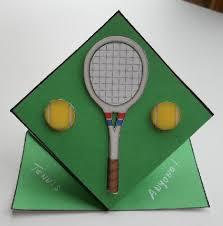 tennis pop up top card cup69715 572 craftsuprint