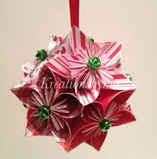 all peppermint origami paper flowers pomander