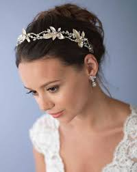 gold headbands wedding headbands