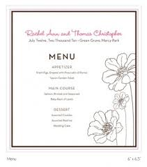 wedding reception program custom wedding reception suite printable table cards menu