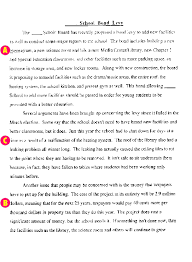 Persuasive essay prompts for middle school  middot  Work Sample  amp  Commentary  School Bond Levy Click to Enlarge  Work Sample  amp  Commentary  School Bond Levy Click