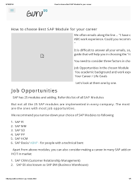 how to choose best sap module for your career customer