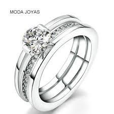 verlobungsring silber oder gold shop luxus weibliche verlobungsring weiß zirkon cz gold