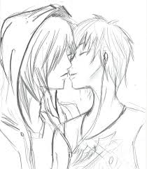 cute couple sketch easy drawing free download cute couple drawings