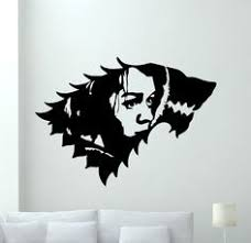 Winter House Decoration Game - canvas painting of house stark in the game of thrones winter is
