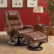 lane andre whiskey top grain leather reclining chair and ottoman