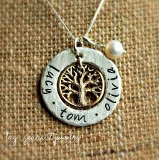Kids Name Necklace Childrens And Kids Name Necklace Family Tree With Gold And Silver