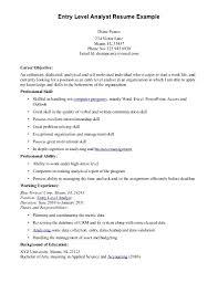 Sample Data Analyst Resume Entry Level Data Analyst Cover Letter Docoments Ojazlink