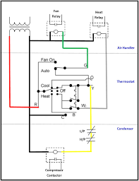 air conditioning thermostat wiring diagram for ac low voltage within