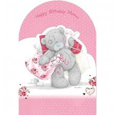 me to you happy birthday mum card bear u0026 presents characterwise