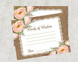Words Of Wisdom Cards Baby Shower Words Of Wisdom Advice Cards New Mom U0026 Dad