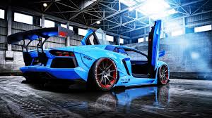 lamborghini aventador blue lamborghini aventador beam blue butterfly doors 4k wallpaper uhd