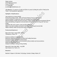 resume sample qa cover letter sample for job quality assurance