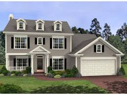 Simple Colonial House Plans The Harrison Glen Colonial Home Has 3 Bedrooms And 3 Full Baths
