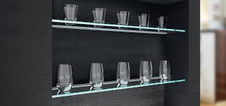 glass edge light surface mounted led shelf light kitchen