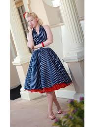 50 u0027s vintage style navy polka dot dresses classic dame navy polka