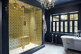 bathroom walls ideas beautiful bathroom tile design with green colored shower blue walls