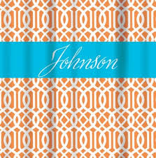 Orange And Blue Shower Curtain Shower Curtains