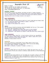 17 write a cv for job agenda example