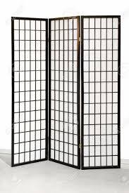 tri fold room divider traditional japanese style tri fold wooden screen stock photo