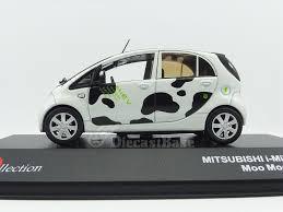 mitsubishi electric car j collection jc288 1 43 mitsubishi i miev 2012 moo moo edition innov