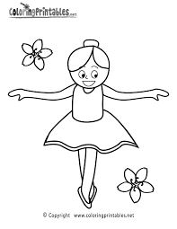 ballet coloring free girls coloring printable