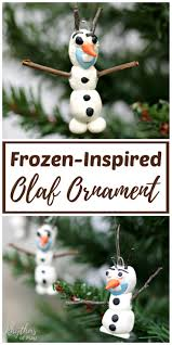 frozen inspired olaf ornament kids make handmade ornaments olaf