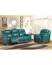 Top Grain Leather Living Room Set Savings On Abbyson Leyla Turquoise Top Grain Leather 2