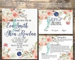 wedding invitation kits wedding invitation kits etsy