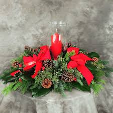 holiday greens centerpiece kremp com
