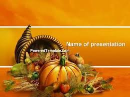 free thanksgiving day powerpoint template by poweredtemplate