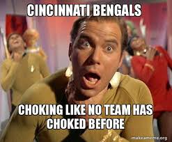 Cincinnati Bengals Memes - cincinnati bengals choking like no team has choked before captain