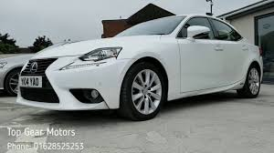 lexus is300h cvt top gear motors high wycombe lexus is300h luxury white youtube