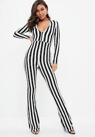 black and white jumpsuit white jumpsuits missguided