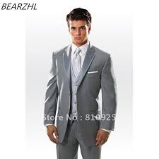 mens light gray 3 piece suit men wedding suits light gray custom made suit classic tuxedo for