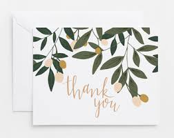 thank you cards thank you card set etsy