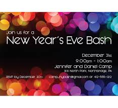 Happy New Year Invitation Happy New Year Party Invitation Cards Wedding Invitation Sample