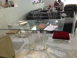 acrylic dining room table chimei awesome acrylic dining table 1 39 modern glass dining