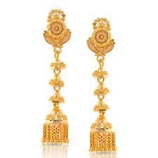 gold earrings jhumka design step jhumkas jewellery india online caratlane