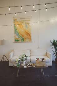 Hanging String Lights by Bedroom Serrific How To Hang String Lights Indoors String Lights