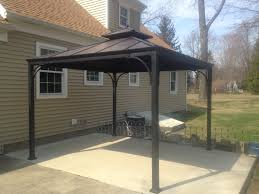 Grill Gazebos Home Depot by Hampton Bay 10 Ft X 10 Ft Harper Hard Top Gazebo L Gz340pst 3i