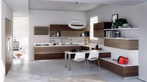 awesome various models of kitchen designs for the interior of your modern kitchen design featuring l shape brown lacquered wooden kitchen cabinets with white marble granite top