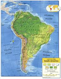 Map Caribbean A Map Of Central And South America With The Countrys From South