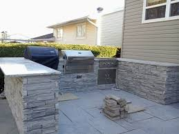 outdoor kitchen backsplash outdoor kitchen with freestanding grill breathtaking insert prices