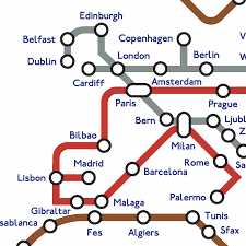 Amsterdam Metro Map by Subway Tube Metro World Map Print By Kiaco Notonthehighstreet Com